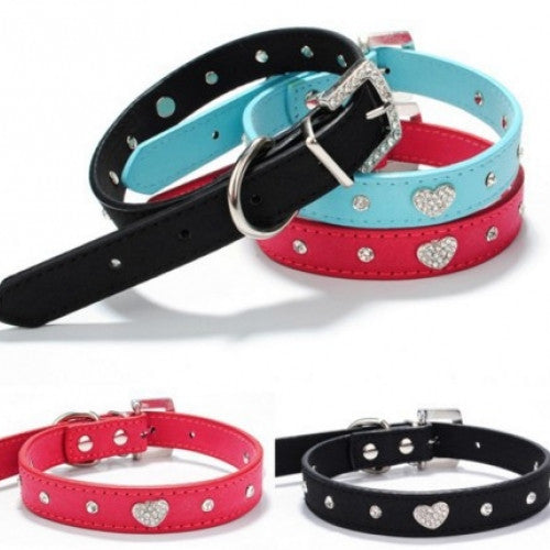 Adjustable Rhinestone Crystal Pet Collar