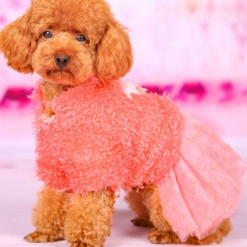 Veil Skirt Princess Dress Pet Clothes