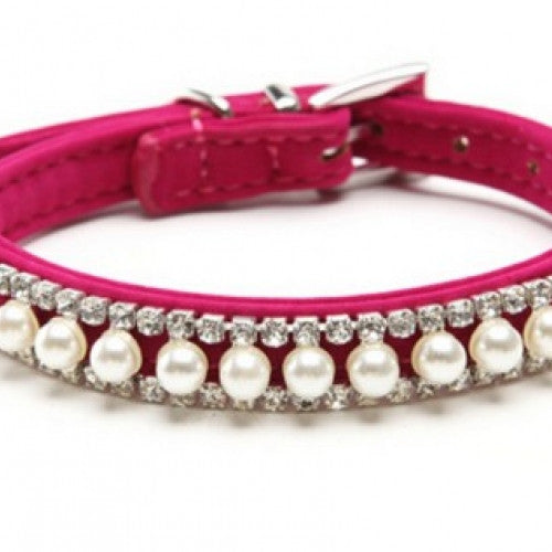 Pearl Crystal Necklace Pet Collar