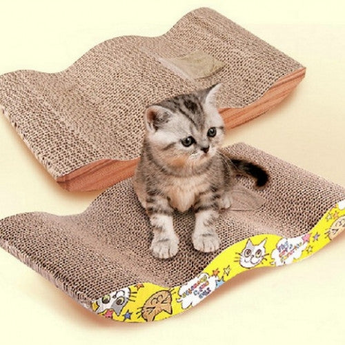 S-shaped Scratcher with Catnip Pet Toy