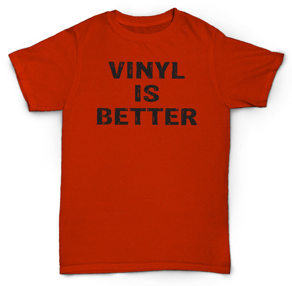 VINYL IS BETTER T SHIRT RECORDS 45'S NORTHERN SOUL HIP HOP