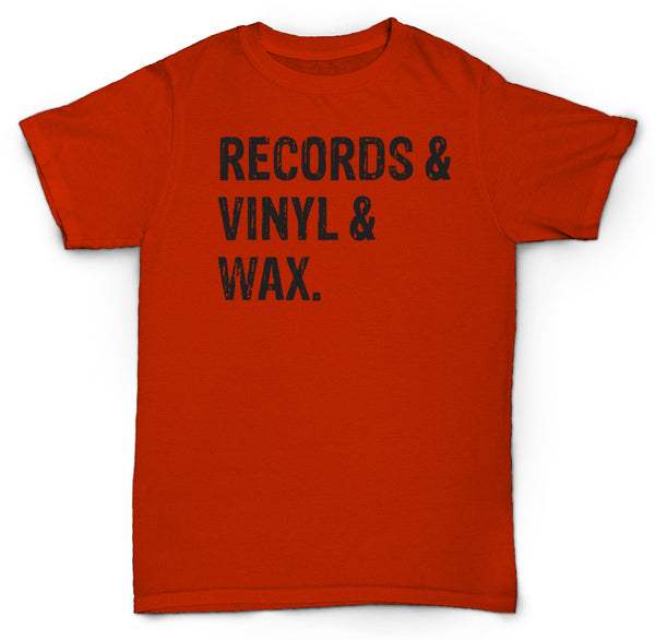 RECORDS & VINYL & WAX T SHIRT HIPSTER DOPE MADLIB BEATS
