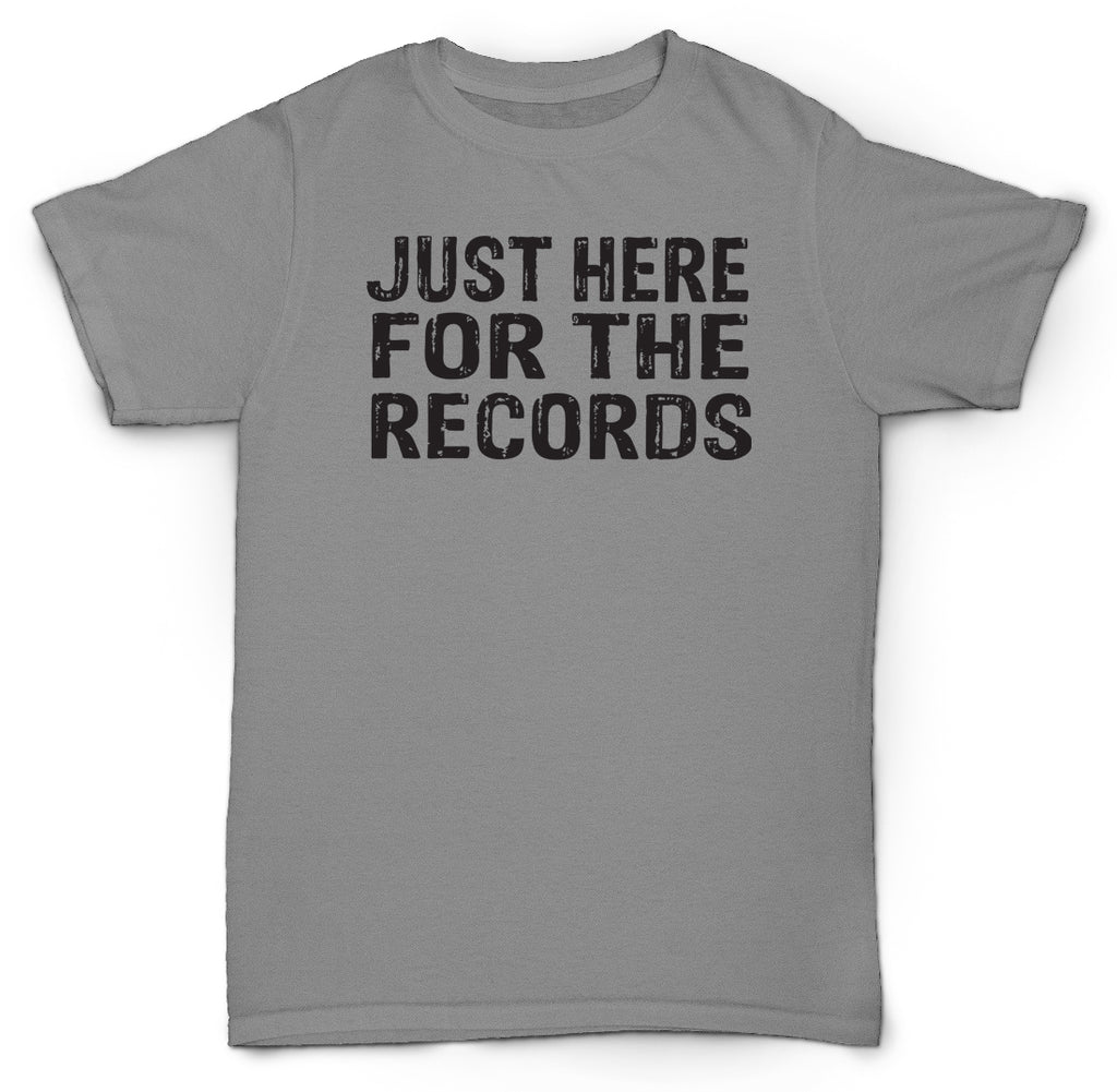 JUST HERE FOR THE RECORDS T SHIRT VINYL RARE MINT SOUL JAZZ SAMPLES