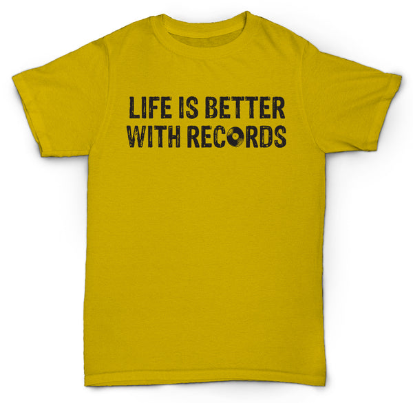LIFE IS BETTER WITH RECORDS VINYL NORTHERN SOUL JAZZ T SHIRT