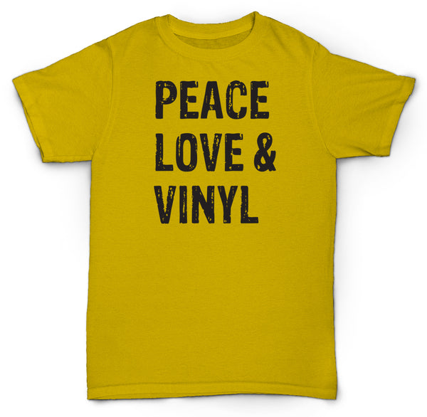 PEACE LOVE & VINYL T SHIRT RECORDS DJ BEATS MPC RARE MINT SOUL