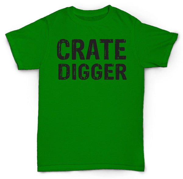 CRATE DIGGER T SHIRT RECORD CRATE VINYL HIPSTER 45'S SOUL HIP HOP FUNK