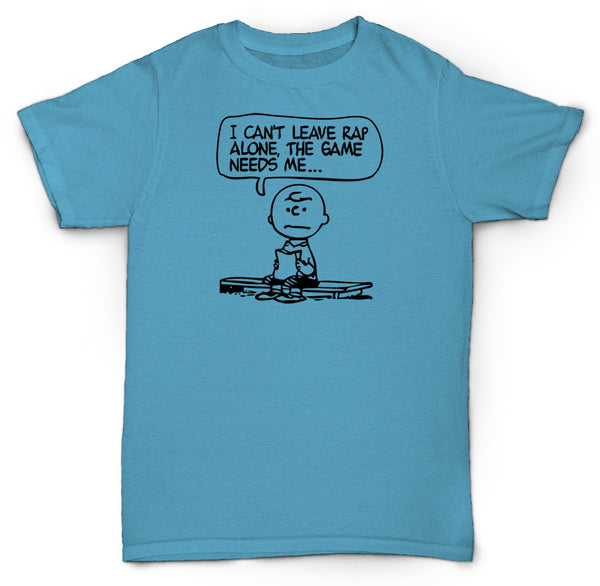 CHARLIE BROWN JAY-Z T SHIRT CAN'T LEAVE RAP ALONE HIP-HOP BOOM BAP