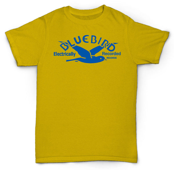 BLUE BIRD RECORDS T SHIRT SONNY BOY BIG JOE BLUES SOUL JAZZ
