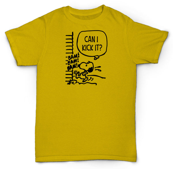 SNOOPY CHARLIE BROWN A TRIBE CALLED QUEST T SHIRT CAN I KICK IT?