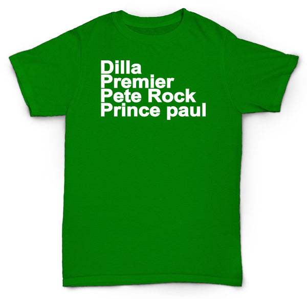 BEST PRODUCERS T SHIRT PREMO DILLA PRINCE PAUL PETE ROCK