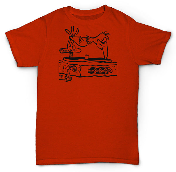FLINTSTONES RECORD PLAYER T SHIRT VINYL 45'S DITC RECORD NERD