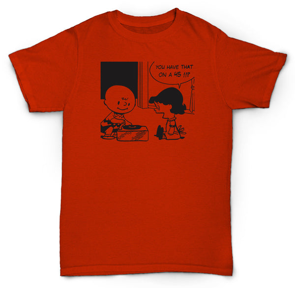 CHARLIE BROWN 45 T SHIRT BREAKS RECORDS VINYL