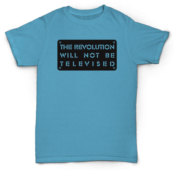 GIL SCOTT HERON T SHIRT REVOLUTION WILL NOT BE TELEVIS