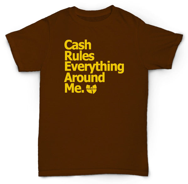 WU TANG CASH RULES T SHIRT 46 CHAMBERS METHOD GHOSTFACE