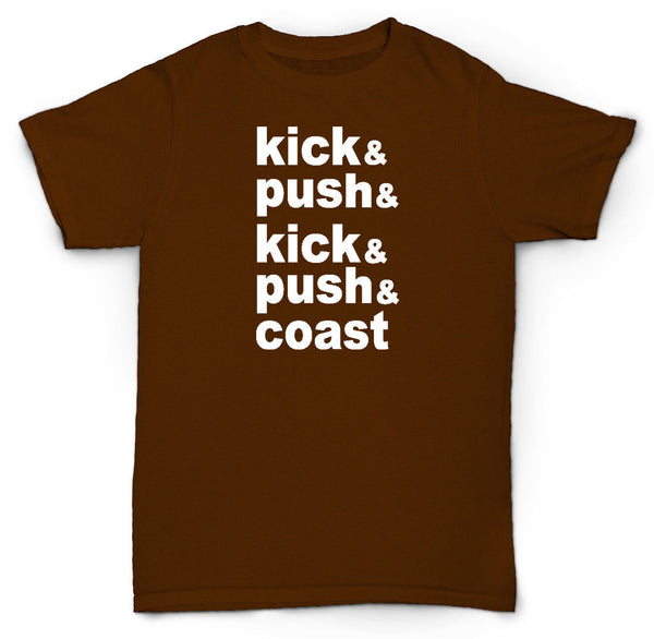 KICK AND PUSH T SHIRT SKATE BOARD DUNKS LUPE FIASCO HIP