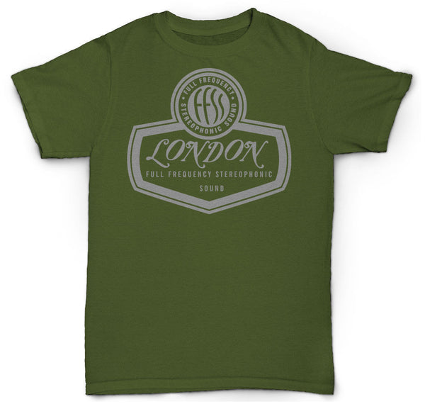 LONDON RECORDS T SHIRT VINYL STONES VINTAGE LOOK RECORDS