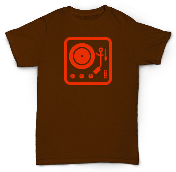 TURNTABLE T-SHIRT RECORD PLAYER VINTAGE RARE HIP-HOP