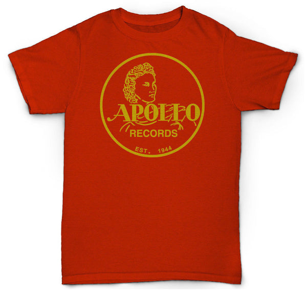 "APOLLO RECORDS T SHIRT JAZZ SOUL VINYL LP 12"" RARE VINTAGE"