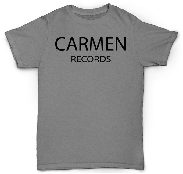 CARMEN RECORDS T SHIRT 45 ROSE BUD CARMELITA VINYL