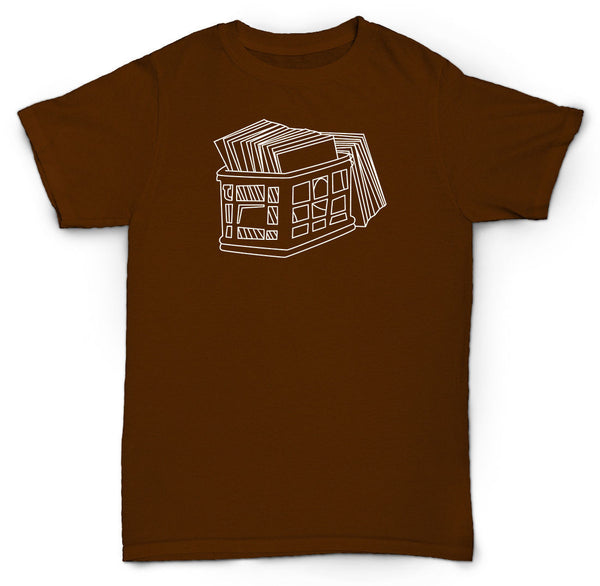 "CRATE OF RECORDS T SHIRT RARE 12"" VINYL DIGGIN HIP HOP"