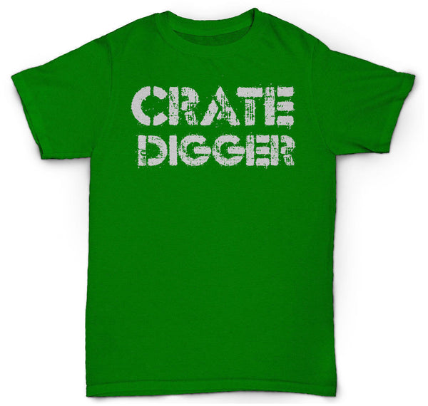 CRATE DIGGER T SHIRT SOUL 45 RECORDS LP'S JAZZ BOOGIE