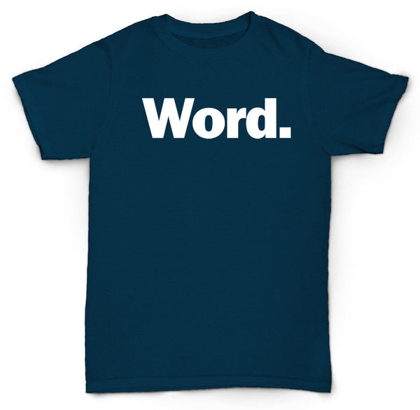 WORD T-SHIRT WORD UP FUNNY COOL HIP HOP RAP EMO PUNK