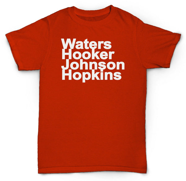 BLUES ARTIST NAMES T SHIRT HOWLIN WOLF HOOKER JOHNSON HOPKINS
