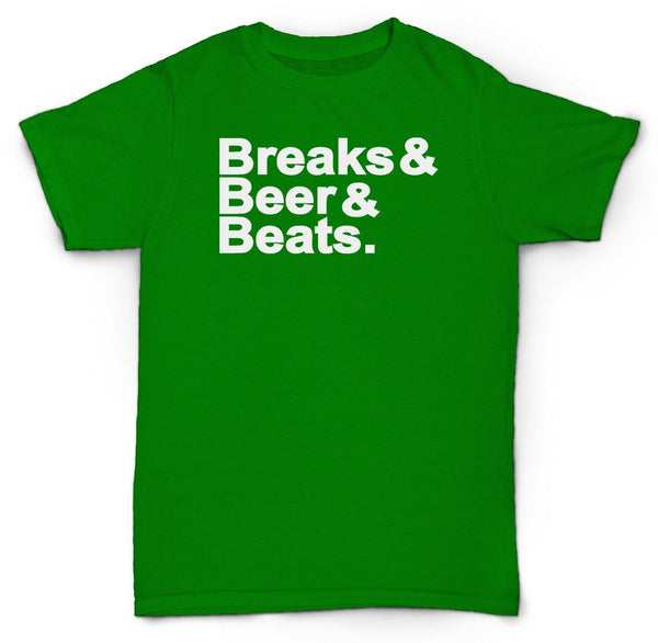 BEER BREAKS BEATS T SHIRT HIP HOP MADLIB DJ PREMIER