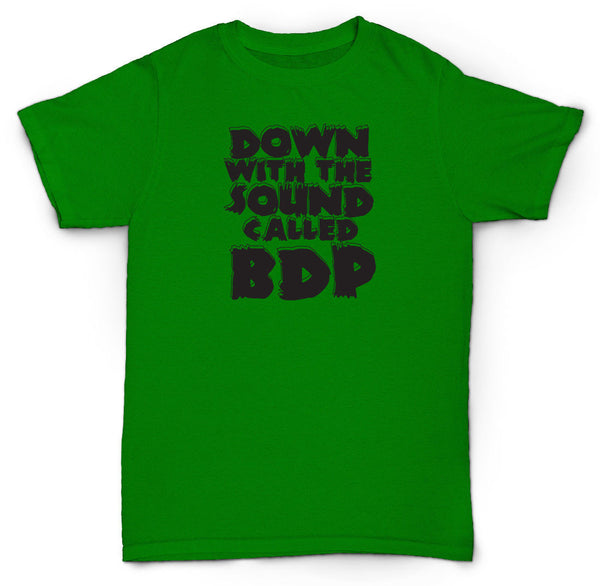 BDP T SHIRT DOWN WITH THE KRS ONE HIP HOP GOLDEN ERA