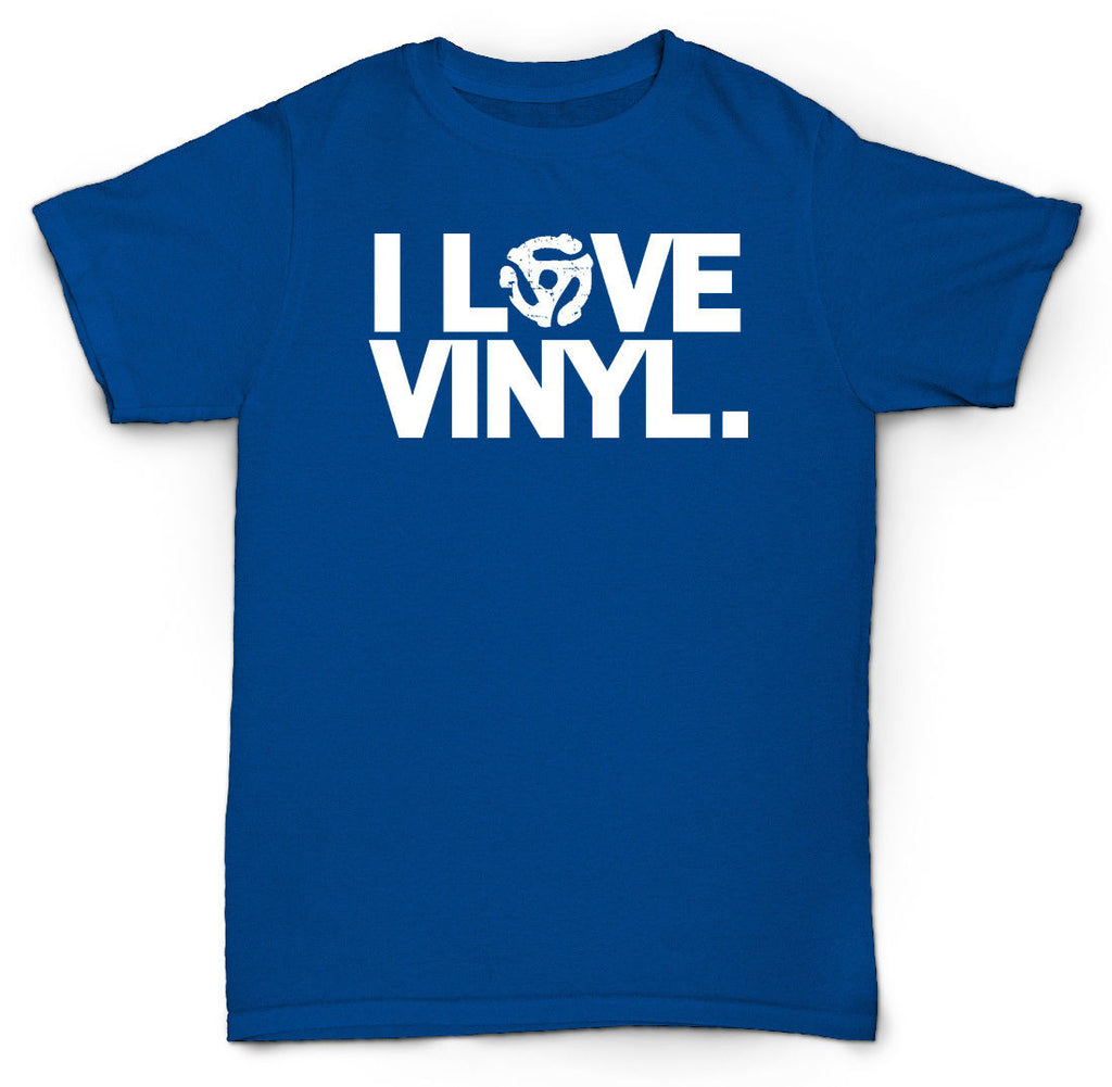 I LOVE VINYL T SHIRT 45 RECORDS NORTHERN SOUL JAZZ HIP HOP RARE