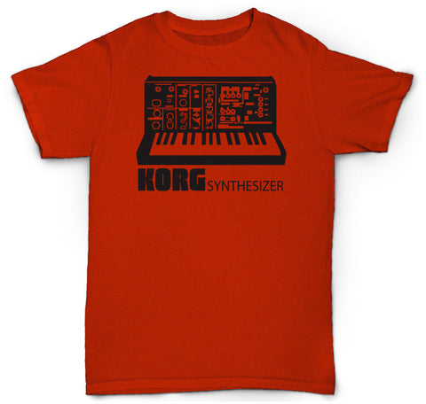 KORG SYNTHESIZER T SHIRT VINTAGE MOOG RARE SAMPLER ANALOG