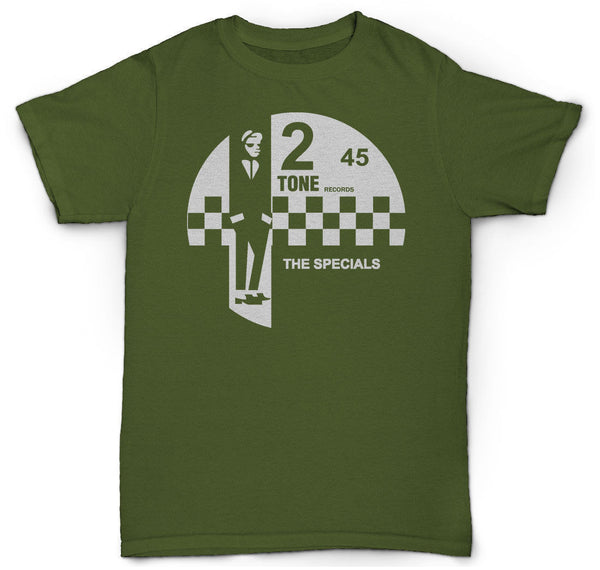 THE SPECIALS 2 TONE RECORDS T SHIRT SKA RARE TROJAN