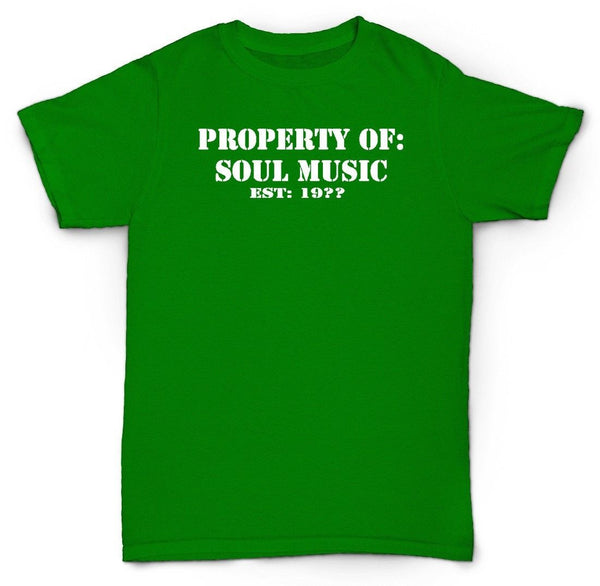 PROPERTY OF SOUL T SHIRT AL GREEN JAMES BROWN NORTHERN JAZZ