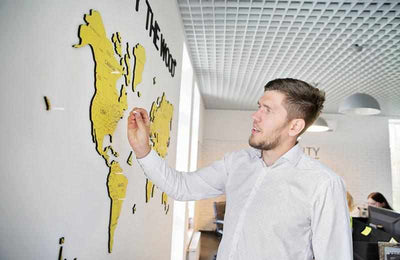 Wall maps by Ukrainian Enjoy the Wood raise $100,000 on Kickstarter