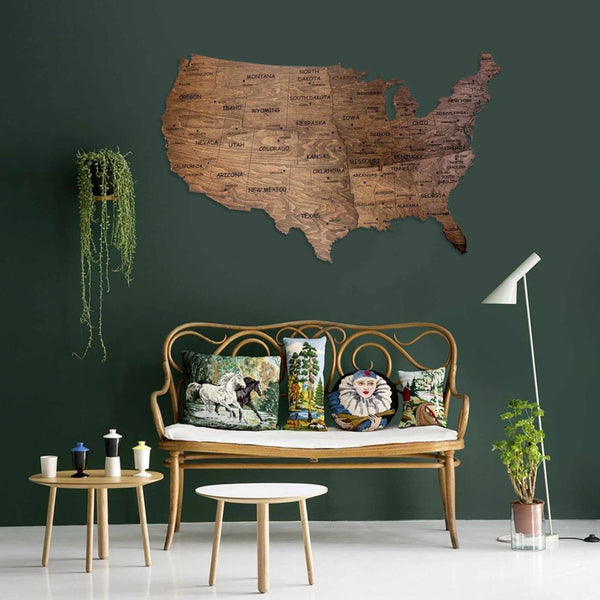 USA Wall Map United States Map of USA Travel Wall Art,  - EnjoyTheWood