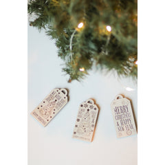 Wooden Set of Christmas Ornaments