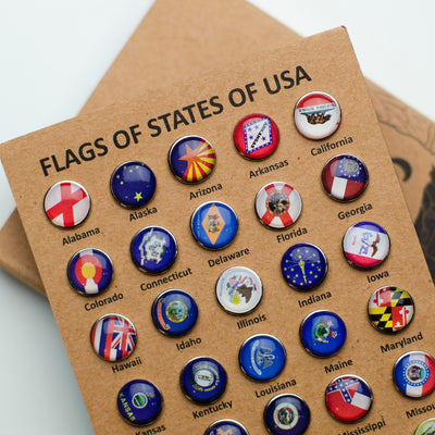 USA Flags Push Pins - EnjoyTheWood