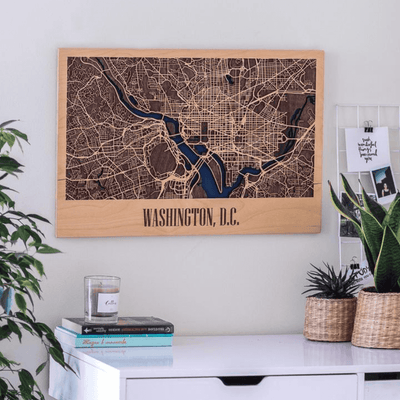 Washington DC 3D Wooden City Map - EnjoyTheWood