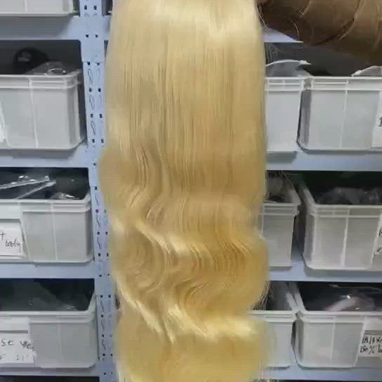 613 Blonde Body Wave 13x4 Lace Front Wig T Part Human Hair Wig 4x4 Lace Closure Wigs 12-30