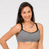Cadenshae Fit2Feed Activewear Nursing Sports Bra Stripe