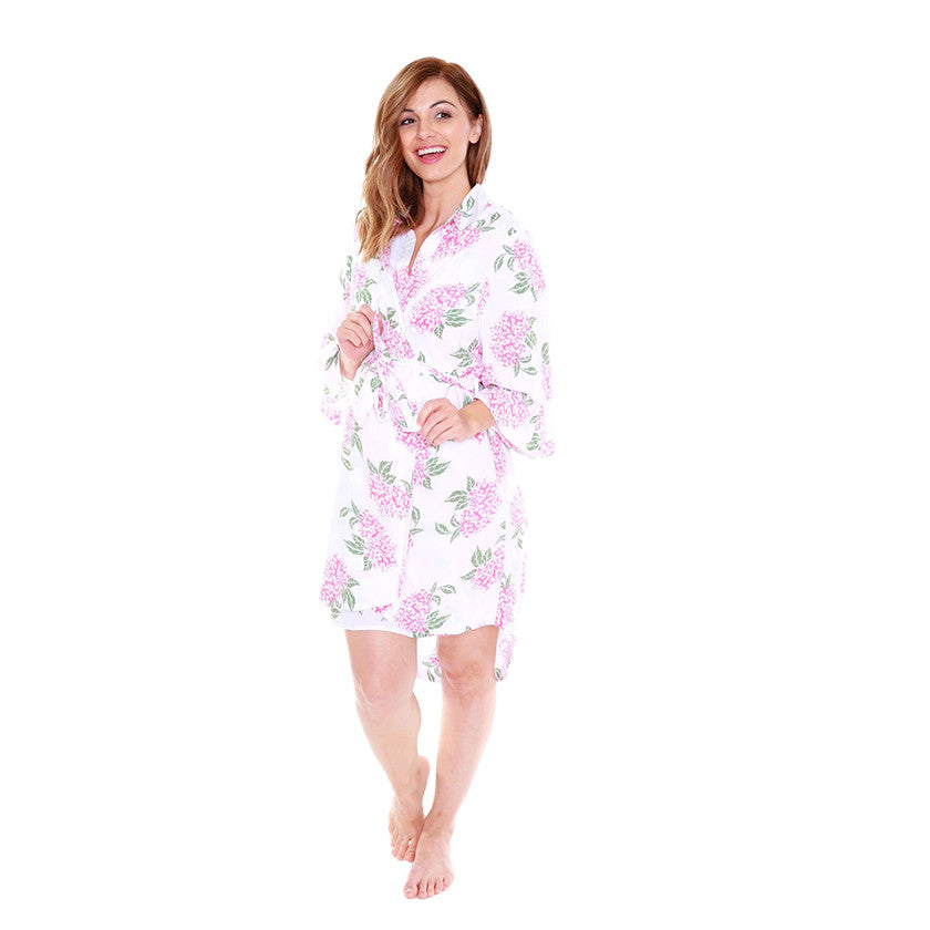 PRE ORDER OPEN ARRIVING W/E 13/09/17Felicity Luxurious Ultra Soft Floral Delivery Nursing Robe