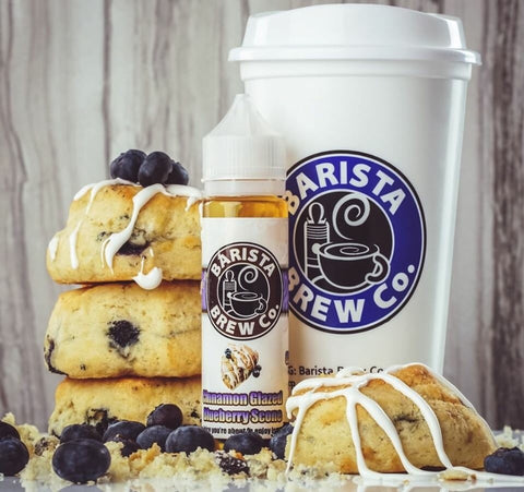 BARISTA BREW - CINNAMON GLAZED BLUEBERRY SCONE