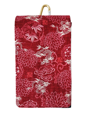 The Marugoku Crimson Dragon Smartphone Case sold by Abaeran Artisan Goods is a distinctive fashion accessory handmade in Japan.