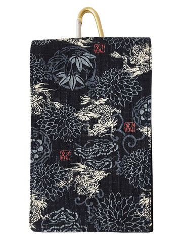 Marugoku Indigo Dragon Smartphone Case sold by Abaeran Artisan Goods is a distinctive fashion accessory handmade in Japan.