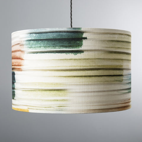 Pleated Brushmark lampshade
