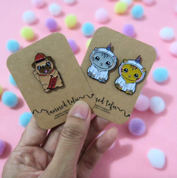 Enamel Pins (Original Tanned Tofu Designs)