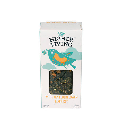 White Tea Elderflower & Apricot- Loose Tea 75g