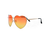 Oversize Colorful Pink Heart Shaped Sunglasses