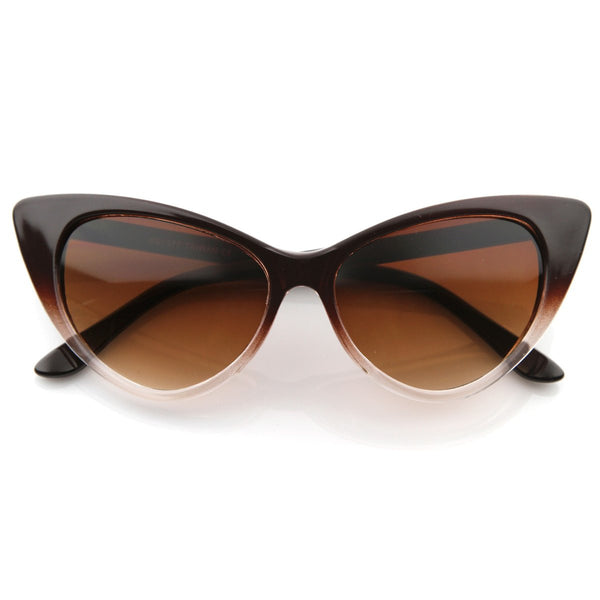 Cat Eye Fashion Brown Sunglasses