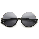 Round Eye Cutoff  Black Frame Glam Sunnies